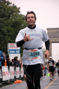 During the last preparations for the Berlin Marathon 2012 on September 30 – Mathias Hevert.